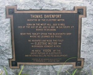 Thomas Davenport Plaque