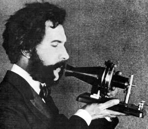 Alexander Graham Bell With Early Phone