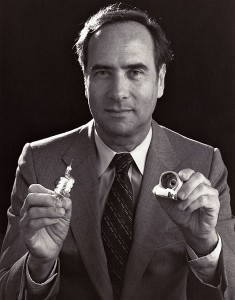 Ted Maiman Holding First Laser