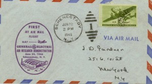 First Jet Air Mail Flight