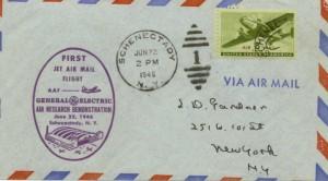 First Jet Air Mail Flight