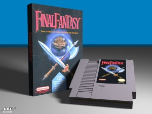 NES Final Fantasy Box and Cartridge