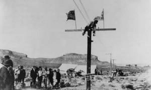 Final Pole Transcontinental Telephone Service