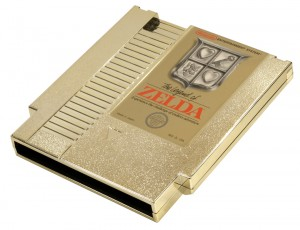 The Legend of Zelda Gold Cartridge