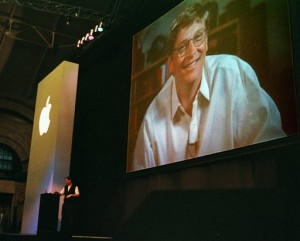 Steve Jobs and Bill Gates Macworld Expo 1997