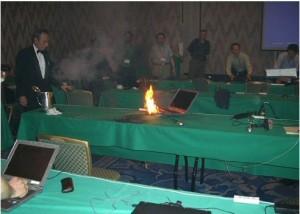 Dell Laptop Fire
