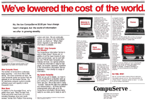 CompuServe and MicroNET