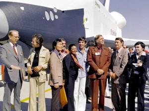 Space Shuttle Enterprise and Star Trek Cast