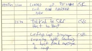 First ARPANET IMP Log