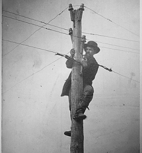 First Transcontinental Telegraph Line